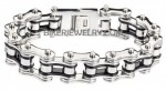 Men's Bike Chain Stainless Steel Silver/Black Motorcycle Biker Bracelet 5 Lengths  FREE SHIPPING - Product Image