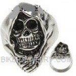 Men's Stainless Steel Biker Reaper RingSizes 8-16 FREE SHIPPING - Product Image