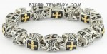 Bracelet  Men's Greek Cross  Stainless Steel  5 Lengths for Men  FREE SHIPPING - Product Image