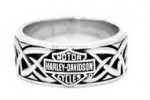 Men's  Harley-Davidson ®  Wedding Band  Sterling Silver  Celtic Design - Product Image