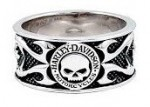 Men's  Harley-Davidson ®  Wedding Band  Sterling Silver  Willie G. - Product Image