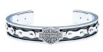 Harley-Davidson®  Stainless Steel  Men's Bike Chain Cuff Bracelet  by Mod® - Product Image