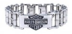 Harley Davidson ®  by Mod ®  Wide Primary  Bike Chain  Stainless Steel Men's Bracelet - Product Image