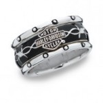 CLOSE OUT PRICE  Men's Harley-Davidson ® Rolling Thunder  Spinner Wedding Band   - Product Image