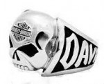 Men's Harley-Davidson ® Stainless Steel  Willie G Skull Ring  Available in Sizes 9-15 - Product Image