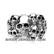 Men's Stainless Steel 10 Skull Biker RingSizes 9-15FREE SHIPPING - Product Image