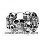 Men's Stainless Steel  10 Skull Biker Ring  Sizes 9-15  FREE SHIPPING - Product Image