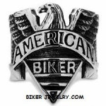 Men's  Stainless Steel  American Old School  Biker Ring  Sizes 8-16  FREE SHIPPING - Product Image