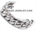Men's Stainless Steel  Curb Link Bracelet  8 Inches  FREE SHIPPING - Product Image
