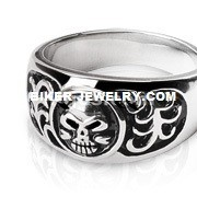 Men's Stainless Steel Domed Skull RingSizes 9-14FREE SHIPPING - Product Image
