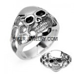Men's Stainless Steel  Skull Biker Ring  Sizes 9-14  FREE SHIPPING - Product Image