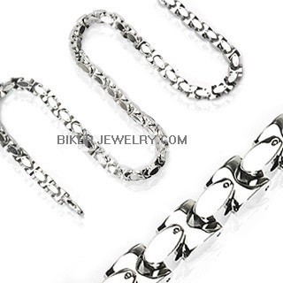 OUT OF STOCK  Necklace  Men's Stainless Square Link  3 Lengths  FREE SHIPPING - Product Image