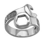 Men's  Sterling Silver  Harley-Davidson ®  Wrench Ring  By Mod ®  Available in Sizes 9-15 - Product Image