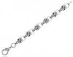 Men's or Ladies  Skull Bracelet  Harley Davidson ® Willie G  Stainless Steel  Available in 5 Sizes - Product Image