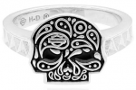 Mod Jewelry® and Harley-Davidson® Ladies Paisley Sugar Skull Skull Ring Sterling Silver Sizes 5-10 - Product Image