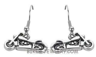 Motorcycle  Dangling Earrings  Stainless Steel  FREE SHIPPING - Product Image