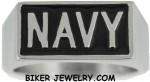 NAVY  Stainless Steel  Military Ring  Sizes 9-15  FREE SHIPPING - Product Image