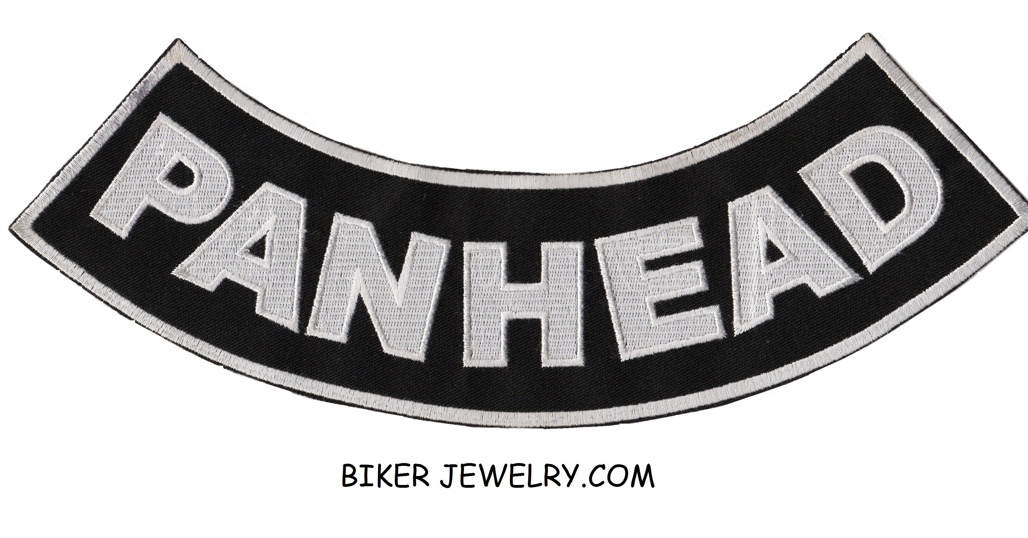"PANHEAD  Lower Rocker  Motorcycle Biker Patch   2 Color Choices  11"" X 3""  FREE SHIPPING - Product Image"