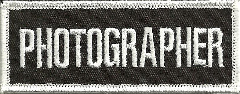 """PHOTOGRAPHERBiker Patch1 1/2 """" x 4""""FREE SHIPPING - Product Image"""