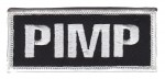 "PIMP Biker Patch3 3/4 "" x 1 1/2 ""FREE SHIPPING - Product Image"