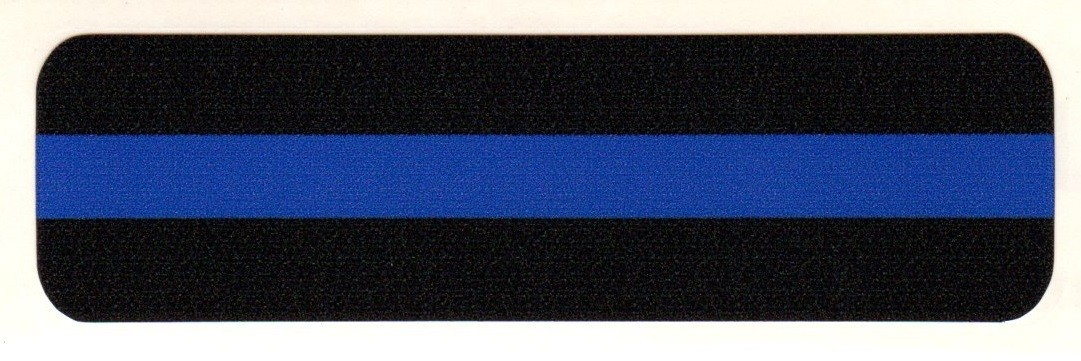 POLICE  Blue Strip Helmet Sticker  - Product Image