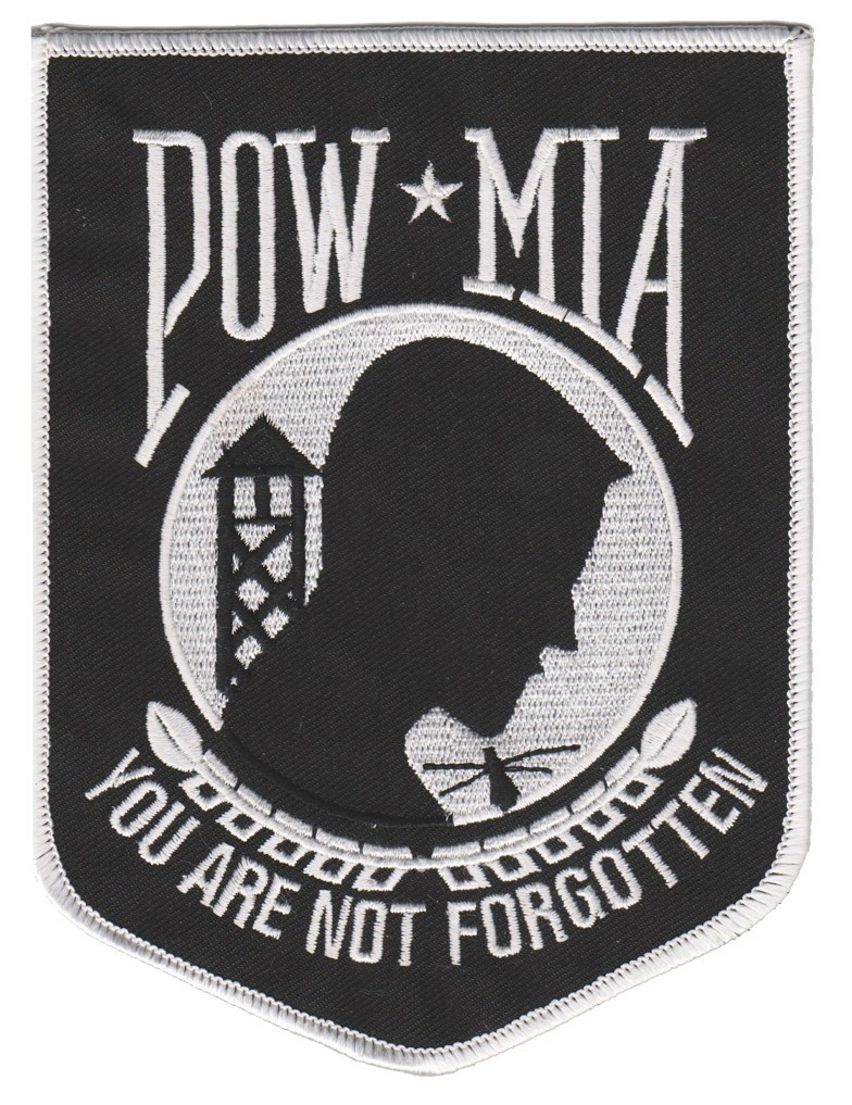 POW MIA  YOU ARE NOT FORGOTTENMilitary PatchAvailable in 2 SizesFREE SHIPPING - Product Image