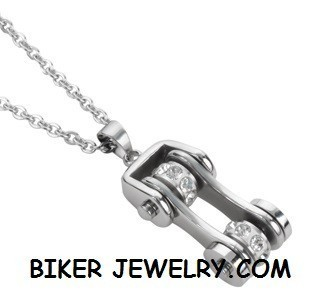 Pendant with Chain  Motorcycle Bike Chain  Stainless Steel  FREE SHIPPING - Product Image