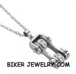 Motorcycle  Bike Chain Design  Pendant / Chain  Stainless Steel  FREE SHIPPING - Product Image