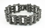 Primary  Bike Chain  Bracelet  1 inches Wide  Industrial look  Stainless Steel  for Men  FREE SHIPPING - Product Image
