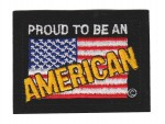 "Proud To Be An American  Biker Patch2 1/4 "" x 3""FREE SHIPPING - Product Image"