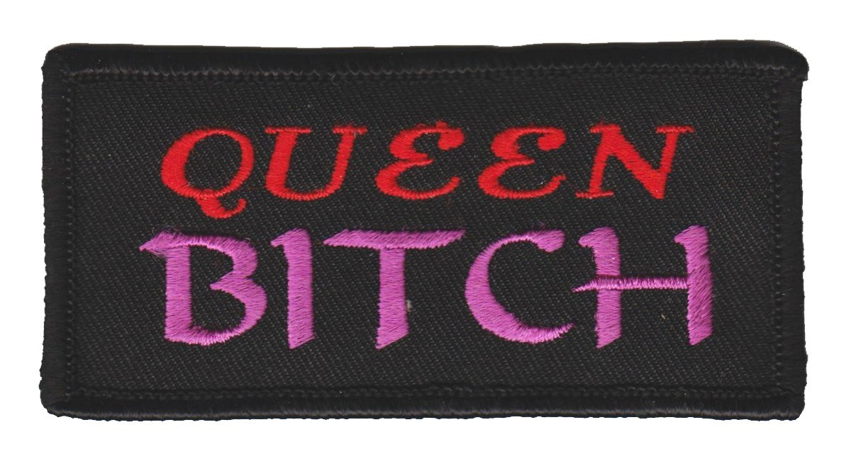 "Queen Bitch Biker Patch3 1/4 "" x 2""FREE SHIPPING - Product Image"