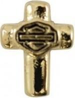RIDE LOCKET CHARM  Harley-Davidson ®  Gold Tone Cross  Mod Jewelry ®   Women's Milestone - Product Image