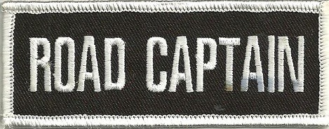 """ROAD CAPTAINBiker Patch1 1/2 """" x 4""""FREE SHIPPING - Product Image"""