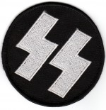 Round Lighting Bolt Biker Patch3'' RoundFREE SHIPPING - Product Image