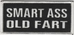 "SMART ASS OLD FARTBiker Patch2"" x 4""FREE SHIPPING - Product Image"