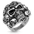 Men's Skull Ring  Stainless Steel  Sizes 9-14  FREE SHIPPING - Product Image