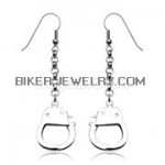 Stainless Dangle Handcuff Earrings  FREE SHIPPING - Product Image