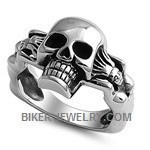 Stainless Steelb Skull Ring  two Hot WomenbbSizes 9-15b FREE SHIPPING - Product Image