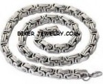 Stainless Steel  4mm Byzantine Necklace  Available in 5  Lengths  FREE SHIPPING - Product Image