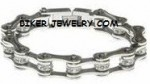 Stainless Steel Ladies Bling  Motorcycle Bracelet  with Crystals  4 Lengths  FREE SHIPPING - Product Image