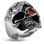 Stainless Steel  Bling Pirate Skull Ring  Sizes 9-14  FREE SHIPPING - Product Image
