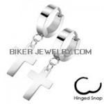 Stainless Steel Dangle Cross Earrings  FREE SHIPPING - Product Image