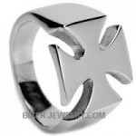 Stainless Steel Iron Cross Biker Ring FREE SHIPPING - Product Image