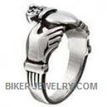 Stainless Steel  Claddagh Ring  Sizes 5-15  FREE SHIPPING - Product Image