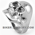Large Man'sStainless Steel Biker Skull RingSizes 9-15FREE SHIPPING - Product Image