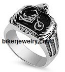 Stainless Steel Motorcycle/Eagle Biker Ring  Sizes 9-18FREE SHIPPING - Product Image