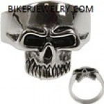 Stainless Steel  Phantom Skull  Biker Ring  Sizes 7-16  FREE SHIPPING - Product Image