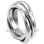 Stainless Steel  Tri-Band Ring  Sizes 5-10  FREE SHIPPING - Product Image