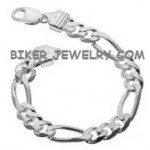 Stainless Steel12mm Figaro BraceletAvailable in 2 Sizes FREE SHIPPING - Product Image