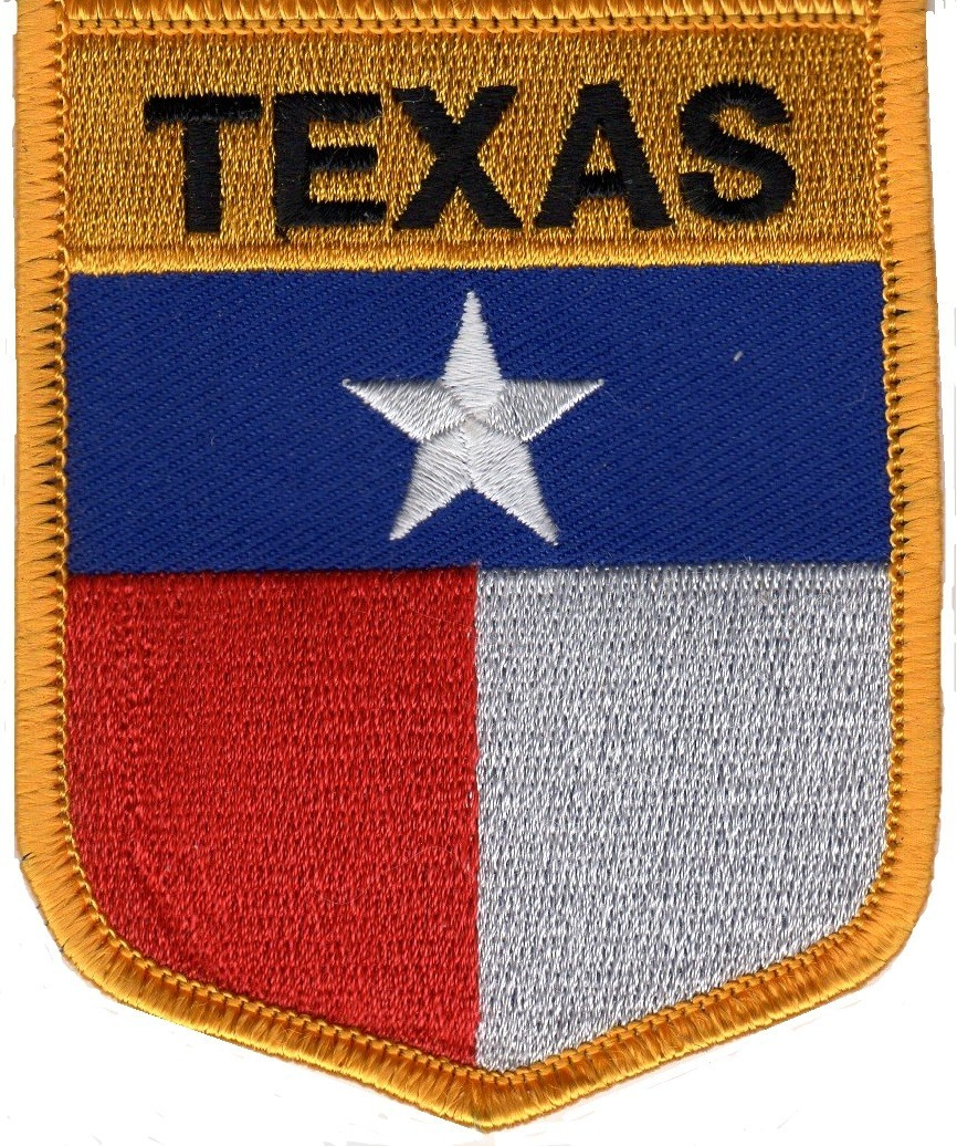 "TEXAS State Flag  Biker Patch  3"" x 3 1/2 ""  FREE SHIPPING - Product Image"